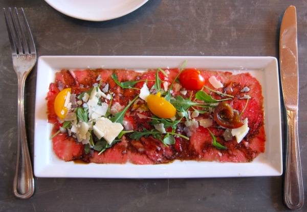 Foody Field Trips_Los Angeles_Food Tour_Fig and Olive_Melrose_Beef Carpaccio