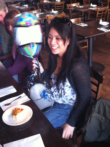 Janice with her birthday balloon!
